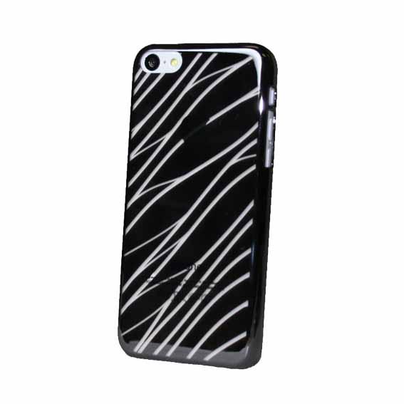EVOUNI S29-0SL-鏡 波紋電鍍殼 iPhone5C 銀色