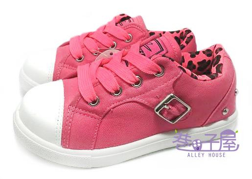 【巷子屋】SPEED史必得 童款彩色豹紋扣環拉鍊款帆布鞋 [6441] 桃粉 MIT台灣製造 超值價$198
