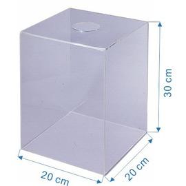 LIFE 摸彩筒 NO.1190 透明壓克力摸彩箱 20cm x 20cm x 30cm(小箱.附貼紙)/一個入{定900}
