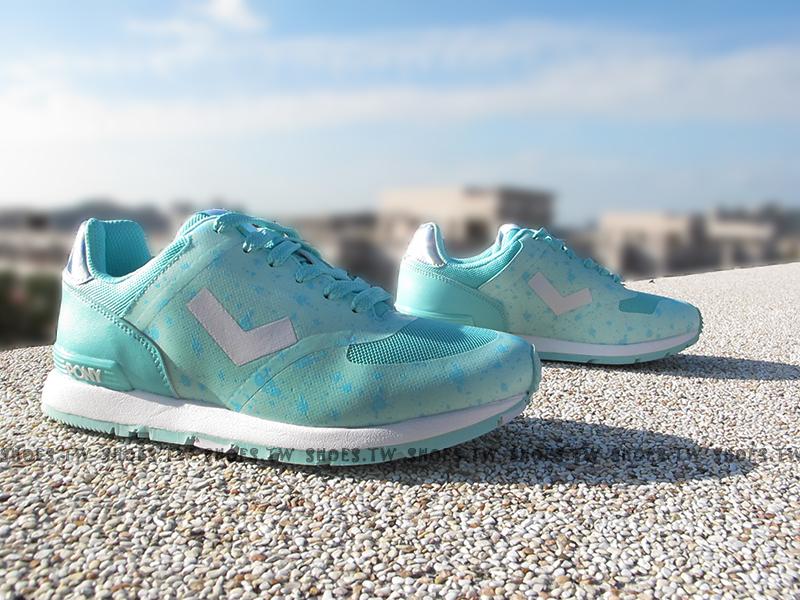 [23.5cm]《超值5折》Shoestw【54W1SO74PB】PONY SOLA-T 復古慢跑鞋 內增高 短V 輕盈設計 薄荷綠 潑墨