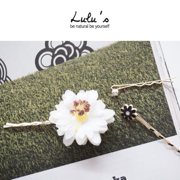 LULUS-N韓製-小白花髮夾組合-金  現+預【08070169】