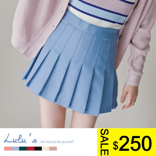 LULUS-J自訂款-側拉鍊百褶短裙S-M-7色  現+預【05010906】