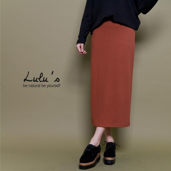 LULUS-L韓製-素面鬆緊長窄裙-3色   現+預【05030383】