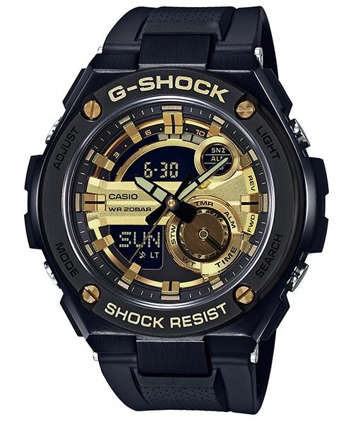 國外代購 CASIO G-SHOCK GST-210B-1A9 雙顯 大錶面 運動防水手錶腕錶電子錶男女錶 黑金