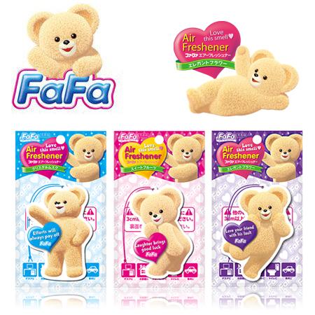 日本 小熊寶貝 NS FaFa室內芳香片 1枚入  懸掛式 芳香劑 衣物 消臭 除臭【N201426】