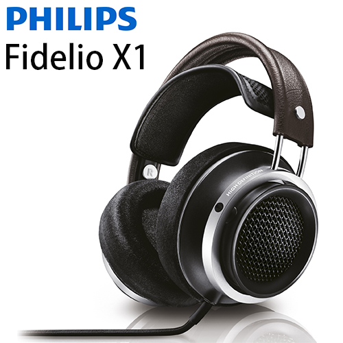 飛利浦 PHILIPS Fidelio X1(贈皮質收納袋) HiFi立體聲耳罩式耳機,公司貨保固