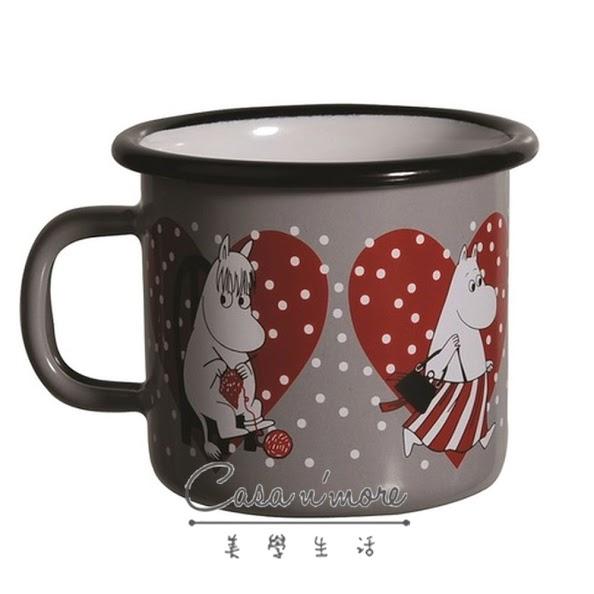 Muurla 馬克杯 咖啡杯 琺瑯 嚕嚕米 250 ml 愛心灰