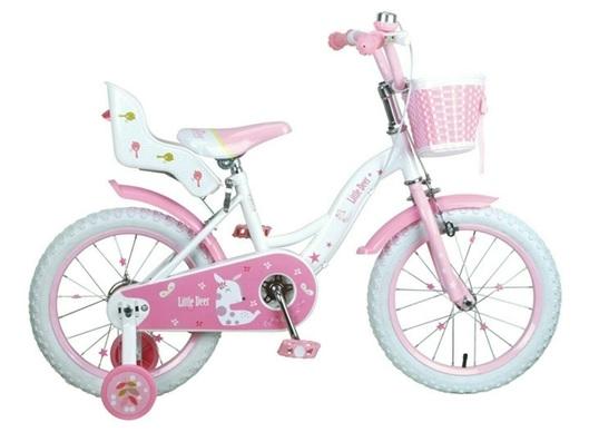 【淘氣寶寶】【CHING-CHING親親】16吋艾比鹿腳踏車 粉 (SX200)