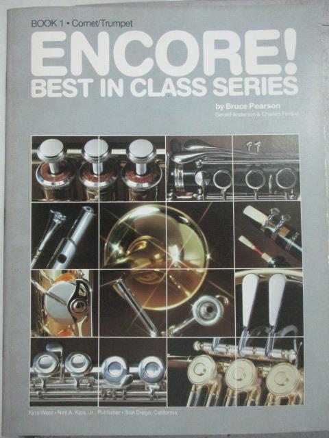【書寶二手書T1/音樂_QIN】Best in Class_book1.Cornet/ Trumpet_Bruce Pearson