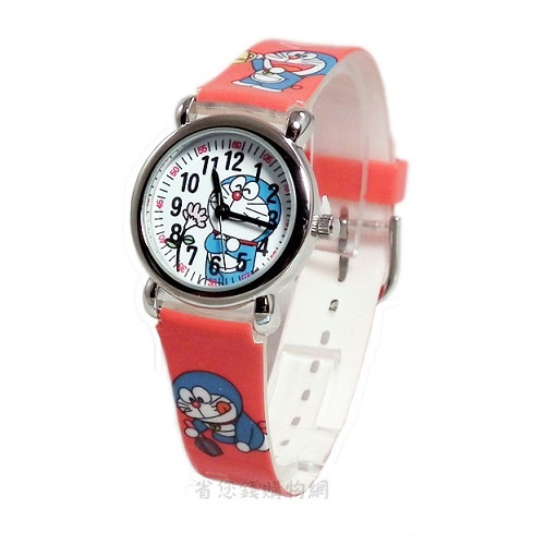 《省您錢購物網》全新~限量doraemon 多啦a夢小叮噹卡通 塑膠錶(紅色)