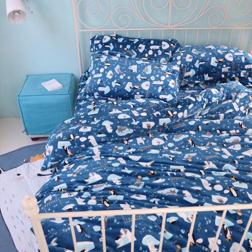 法蘭絨/獨家花色【海洋寶貝】法蘭絨床包被套組/單人、雙人、加大尺寸-絲薇諾~限時特價980元起(滿888再折100元)