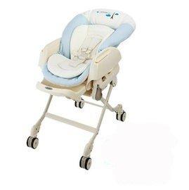 *babygo*{買1送2}康貝 Combi Letto電動安撫餐椅搖床ST款-藍色巴黎81280