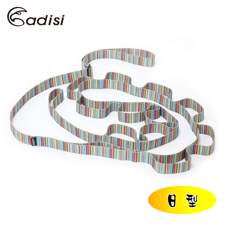 ADISI 藍條紋調整掛物繩帶(日型)AS16139 / 城市綠洲(多功能掛勾、掛繩、曬衣繩、露營用品)