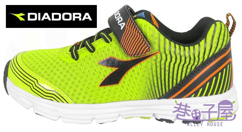 【巷子屋】義大利國寶鞋-DIADORA迪亞多納 男童無縫膠印輕量慢跑鞋 190g [3035] 螢光綠 超值價$693