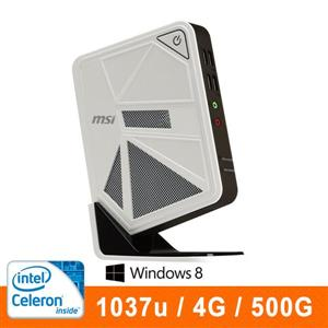 微星DC111-058AP-W10374G50X81MB  迷你電腦 intel 1037U/DDR3 1333 4G/500G/Intel Graphics/NO DVD/WIN8.1