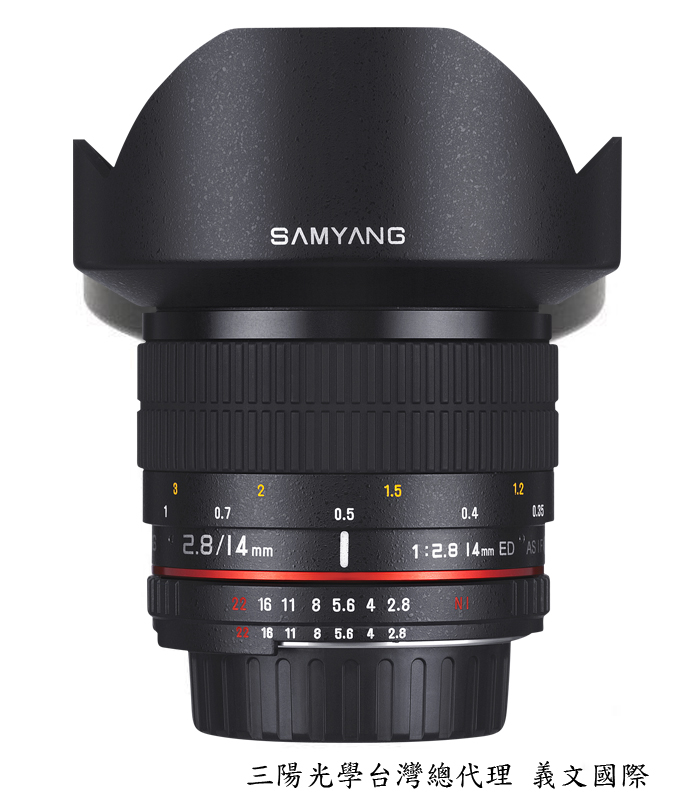 Samyang 14mm/F2.8 ED ASPH UMC超廣角 for Canon AE