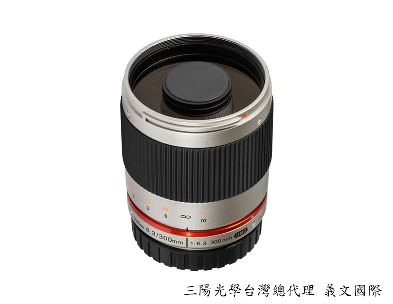 Samyang 鏡頭專賣店: 300mm /F6.3 反射鏡 銀色  for Fuji FX (Fuji XE1, X-E1,XPro1,X-Pro1)