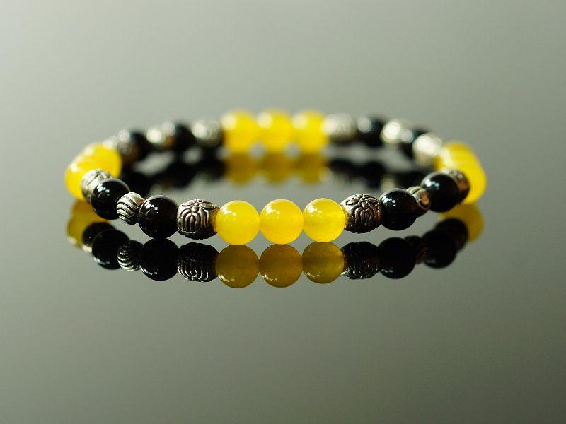 黃玉#黑曜石#合金配件,黃色寶石帶來溫馨的友誼為事業帶來好運 。A505