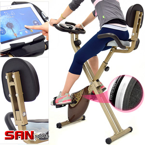 SAN SPORTS背靠大椅!飛輪式磁控健身車(室內折疊腳踏車.摺疊美腿機.運動健身器材.推薦哪裡買)C082-922