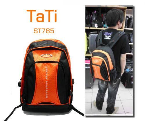 【加賀皮件】 TaTi休閒運動超便宜14吋筆電輕型防潑水後背包【ST785】