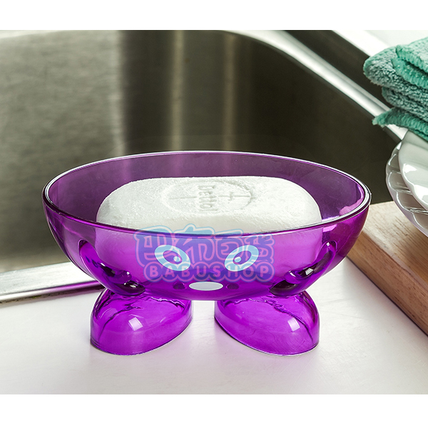 機器娃娃架空瀝水香皂盒/肥皂盒 (1入,13X8X6CM)【巴布百貨】
