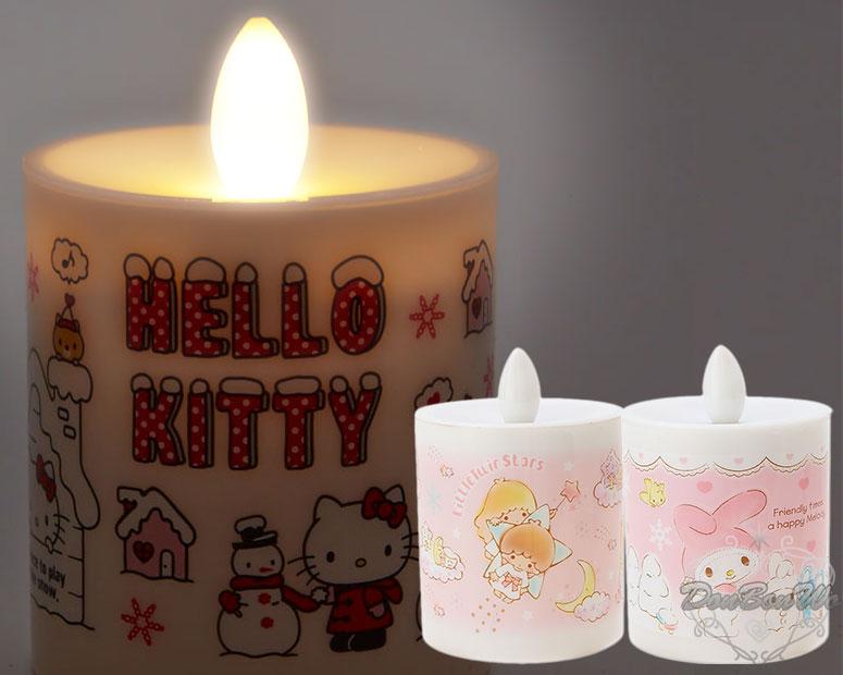KITTY美樂蒂雙子星仿真蠟燭造型聖誕小夜燈凱820667美樂蒂820681星820711