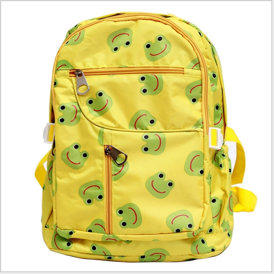 funnimals◆卡哇伊高品質動物圖案防水幼兒兒童書包雙肩包休閒後背包-黃色青蛙