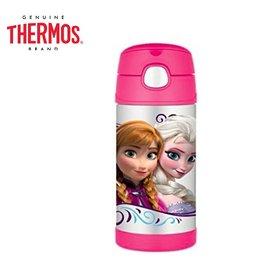 Baby Joy World-【美國 THERMOS 膳魔師】不銹鋼真空保溫瓶 軟式吸管式彈跳蓋 兒童學習水杯水壺-冰雪奇綠Frozen