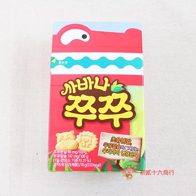 【0216零食會社】韓國Crown_動物造型牛奶餅70g