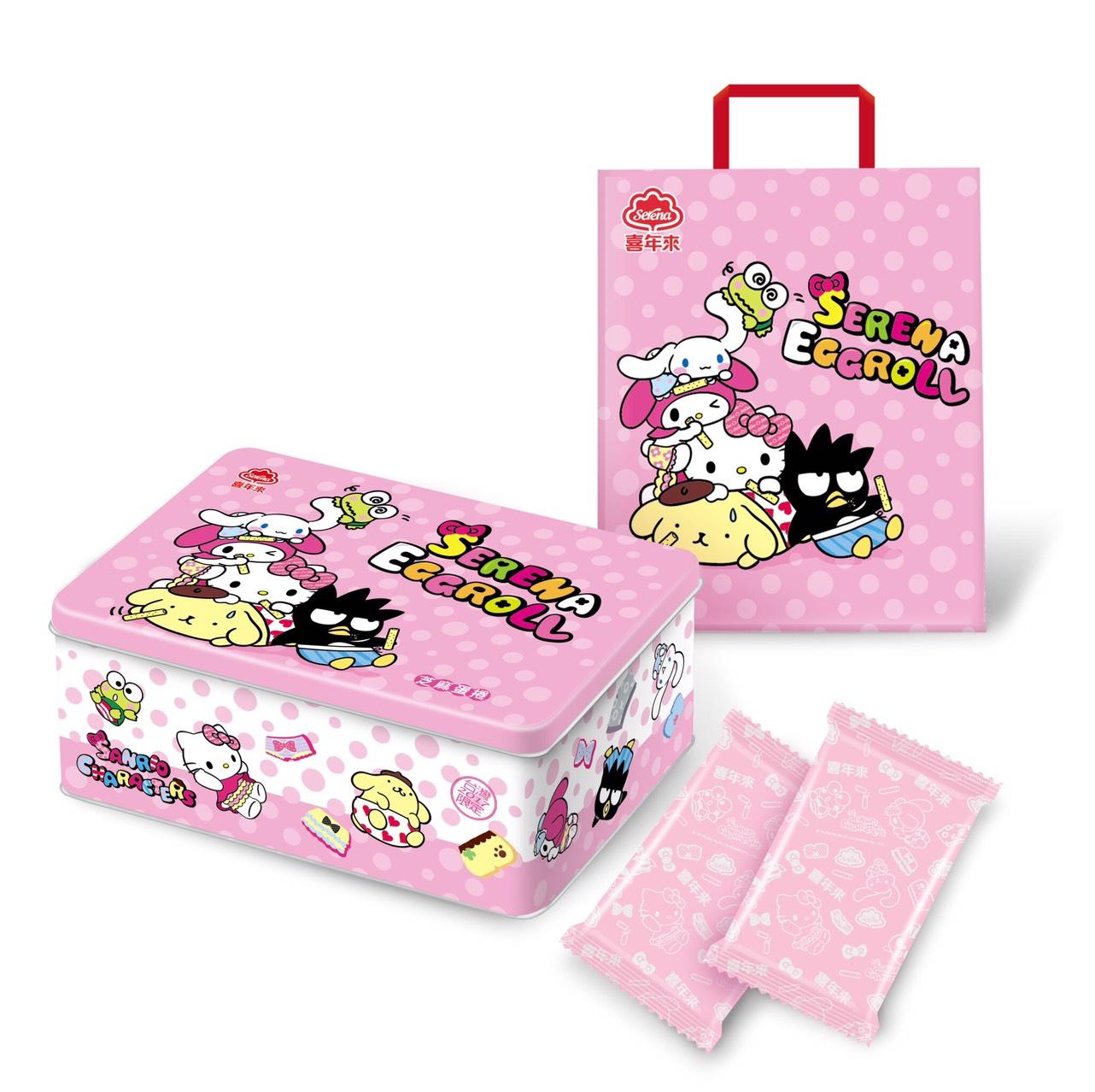 喜年來kitty 芝麻蛋捲禮盒