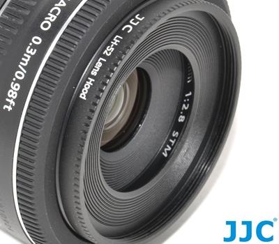 又敗家@JJC副廠CANON遮光罩ES-52遮光罩(金屬,可接52mm濾鏡同原廠CANON遮光罩ES52遮光罩)適EF 40mm餅乾鏡EF-S 24mm f/2.8 STM太陽罩f2.8 ES-52遮陽罩ES-52遮罩lens hood