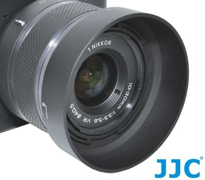又敗家@JJC副廠NIKON尼康HB-N101遮光罩(可倒扣反裝同NIKON原廠遮光罩HBN101遮光罩)Nikon1 NIKKOR 10-30mm f/3.5-5.6 VR f3.5-kit鏡