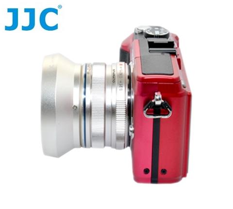 又敗家@JJC副廠銀色Olympus遮光罩LH-48B遮光罩(金屬遮光罩,可倒裝,同原廠Olympus遮光罩LH48B)適MZD 17mm F1.8 F/1.8 1:1.8 ED M.ZUIKO DIGITAL Micro4/3 M4/3 Micro Four Thirds奧林巴斯餅乾鏡pancake
