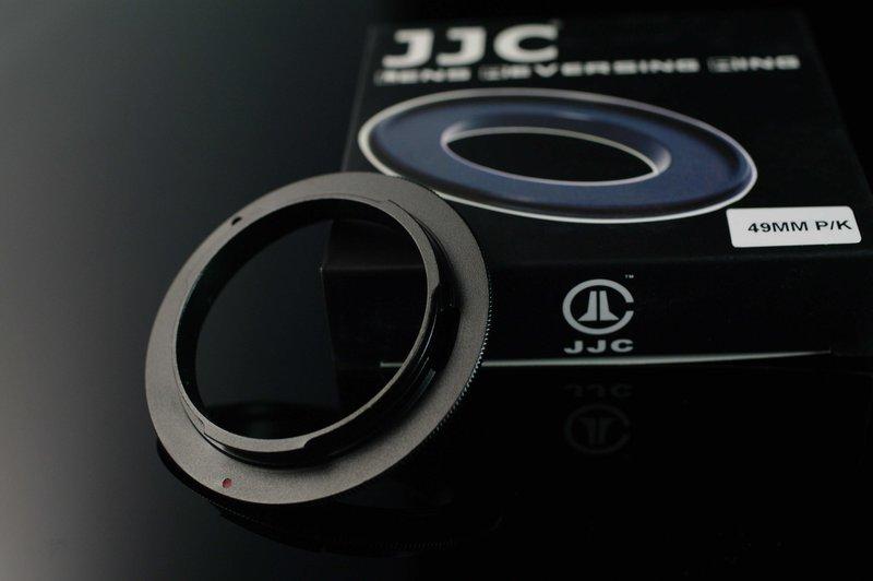 又敗家@ JJC 49mm倒接環49mm鏡頭倒接環適PENTAX機身PK(適所有49mm PENTAX M42 NIKON CANON OLYMPUS鏡頭)MACRO鏡窮人微距鏡MICRO鏡