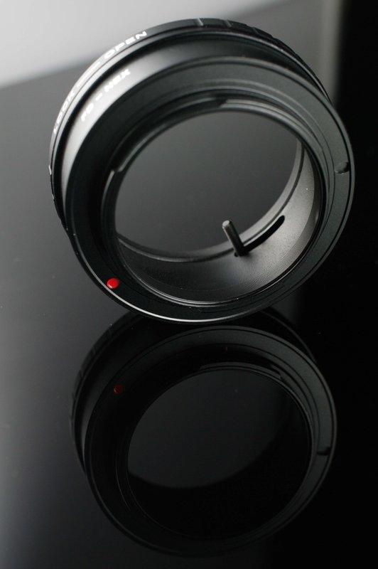 又敗家@外貿精品Canon佳能FD鏡頭轉接至SONY E Mount機身轉接環(可調光圈,光圈連動桿)適50/1.4 85/1.2-NEX3 NEX5 NEX-3 NEX-5