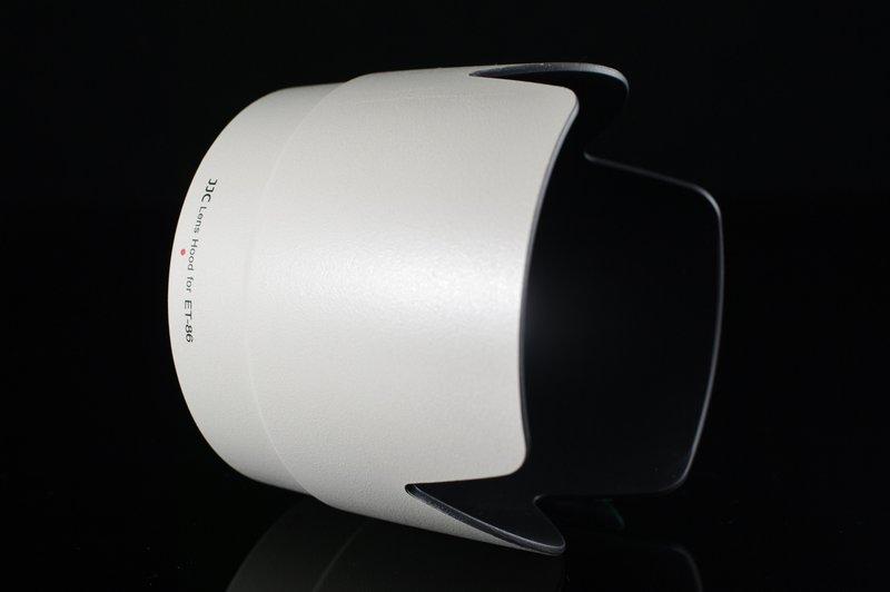 又敗家@JJC白色CANON遮光罩ET-86遮光罩ET86遮光罩(插刀式可反裝,JJC副廠遮光罩同佳能Canon原廠遮光罩)適EF 70-200mm f2.8L IS USM太陽罩lens hood小白遮光罩f/2.8L f2.8 L 1:2.8