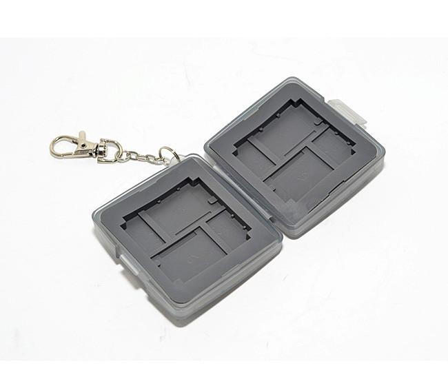 又敗家@灰uWinka Micro SD.XD.CF記憶卡儲存盒附鑰匙鏈 記憶卡收納盒記憶卡保存盒記憶卡保 護盒Micro SD卡盒CF記憶卡盒XD儲卡盒