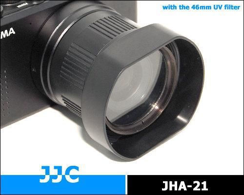 又敗家@Sigma遮光罩DP2x DP2s DP2遮光罩HA-21轉接器(JJC副廠遮光罩,非Sigma原廠遮光罩)HA21遮光罩連接器,不適DP1 DP1x DP1s