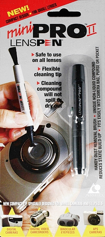 又敗家@加拿大LENSPEN MiniPro II鏡頭清潔筆(平輸,附軟鬃毛刷清灰塵)canada minipro拭鏡筆適小DC清潔鏡頭筆miniproII清潔鏡頭筆鏡頭拭鏡筆鏡頭擦拭筆lens pen,非LP-1 Classic