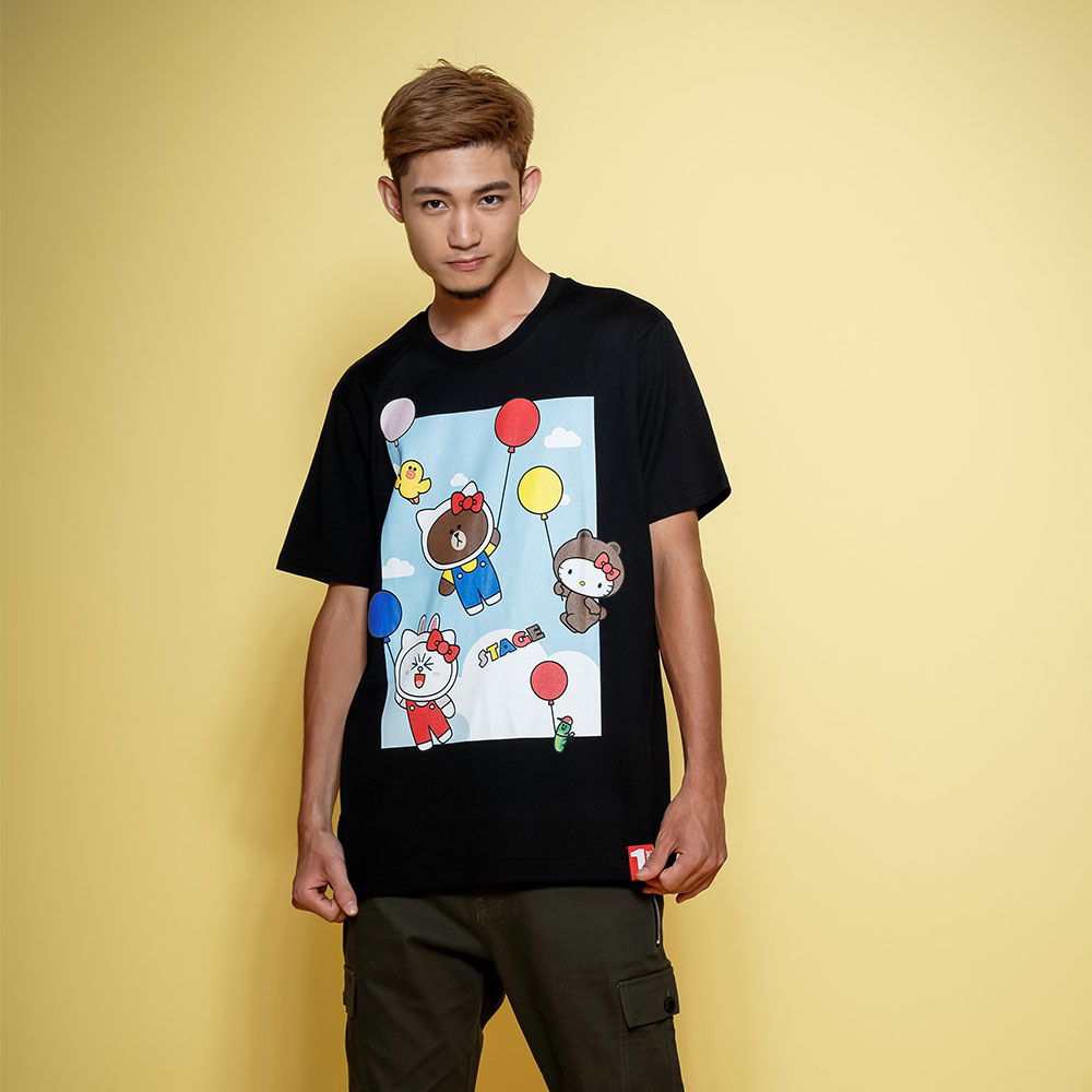 STAGE x HELLO FRIENDS 聯名限定 STAGE COLOR BALLOON TEE
