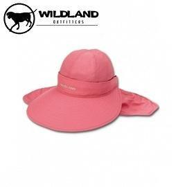 [ WILDLAND 荒野 ] 中性 抗UV可脫式遮陽帽 珊瑚紅 /  W1006-15