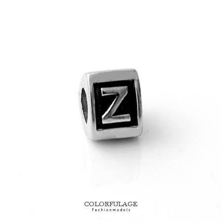 組合字母串珠手鍊 自由搭配鋼墜手環 Z字母 柒彩年代【NT4】CHARMS