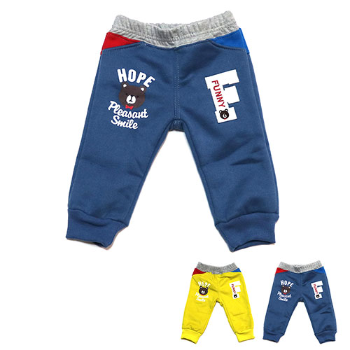 【錢豪童裝童鞋】小熊小刷毛棉褲(70~90cm)