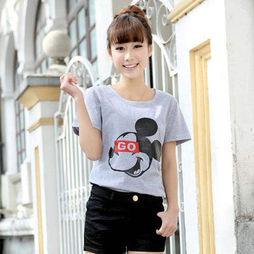 YJY米奇頭純色T恤[U6716]-2色M.XL
