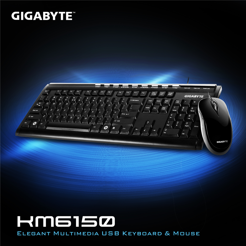 技嘉 GK-KM6150 有線鍵盤滑鼠組-黑