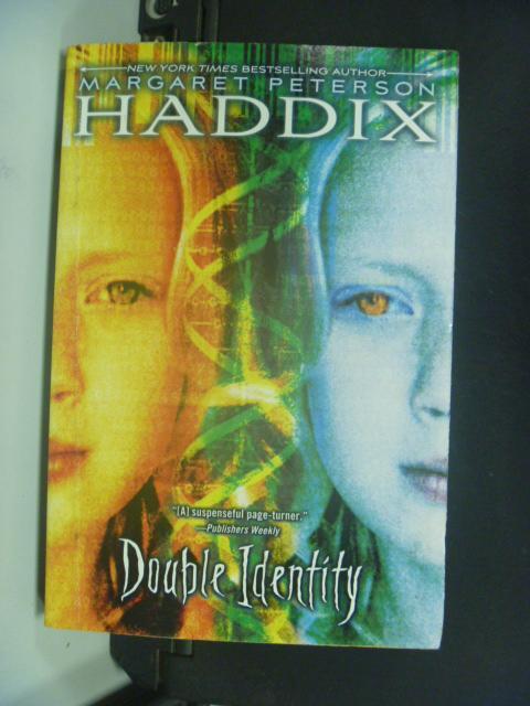 【書寶二手書T5/原文小說_KGE】Double Identity_Haddix, Margaret Peterson