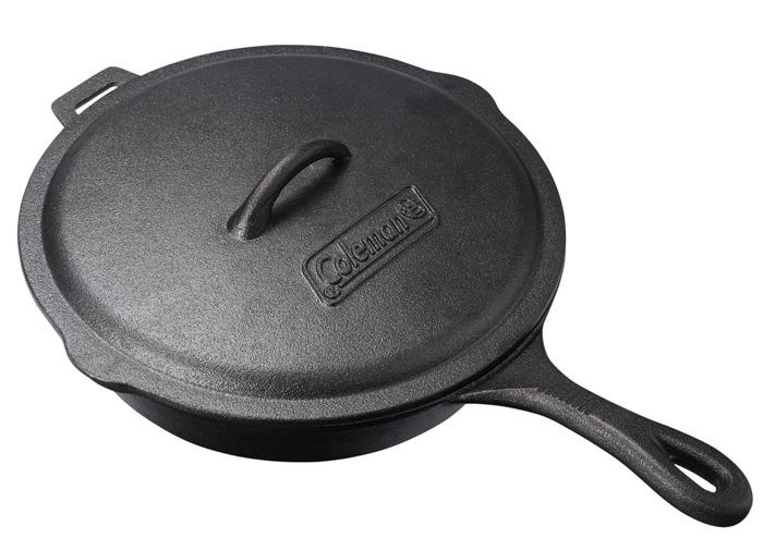 【鄉野情戶外專業】 Coleman |美國|  經典鑄鐵平底鍋/荷蘭鍋 鑄鐵鍋/CM-21880M000