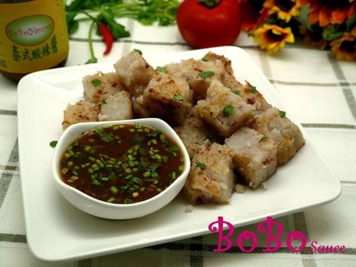 BOBO 食譜 - 蘿蔔糕沾酸辣醬