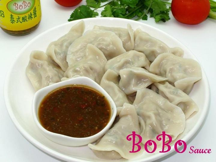 BOBO 食譜 - 素水餃沾素食酸辣醬