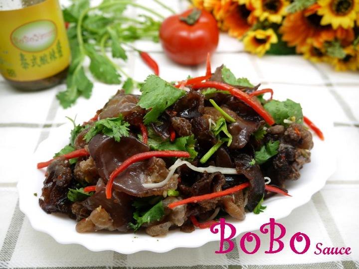 BOBO 食譜 - 全素食泰式涼拌酸辣黑木耳
